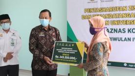 Dukung Pemerintah Kota Yogyakarta dalam Penangananan Covid-19, BAZNAS Kota Yogyakarta Salurkan ZIS senilai 704 Juta