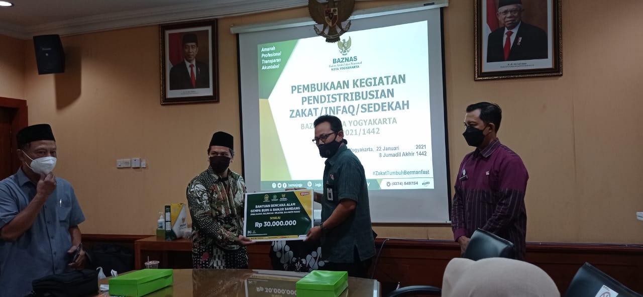 Wakil Walikota Yogyakarta Melakukan Pembukaan Program Tasharuf ZIS