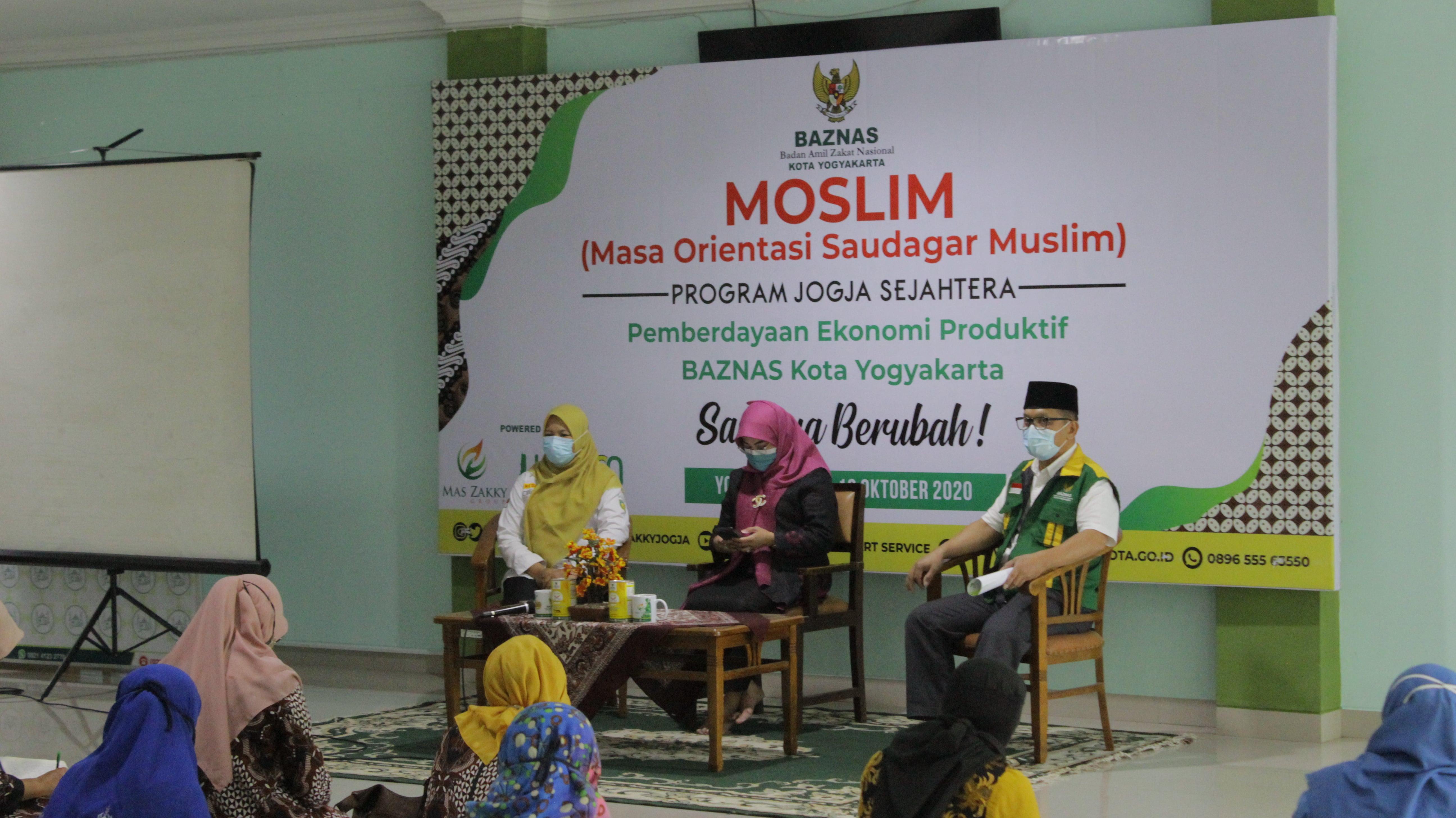 Kegiatan Masa Orientasi Saudagar Muslim (MOSLIM) Gelombang 1 yang dilaksanakan pada hari Rabu (7/10/2020)